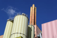 Waste-to-energy plant. In Wuerzburg royalty free stock image