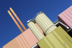 Waste-to-energy plant. In Wuerzburg stock photo