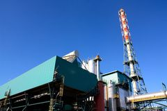 Waste to energy plant. View of a waste to energy plant in Italy stock photos