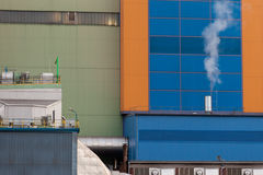 Waste-to-energy plant detail Oberhausen Germany Royalty Free Stock Photo