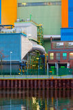 Waste-to-energy plant detail Oberhausen Germany Royalty Free Stock Photos