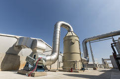 Waste-to-energy plant. Waste-to-energy or energy-from-waste is the process of generating energy in the form of electricity or heat from the primary treatment of stock photography