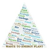 Waste To Energy Plant word cloud stock illustration
