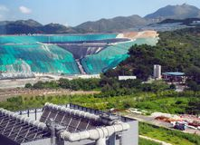 Waste to Energy Transformation Park. Waste to Energy Transformation T Park in Hong Kong China. The self-sustained facility combines a variety of advanced royalty free stock photography