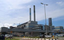 Waste to heat recovery plant AVR in the Botlek harbor in Rotterdam,. The Netherlands stock photo