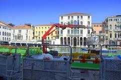 Waste transportation in Venice Stock Photo