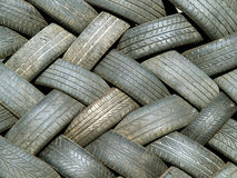Waste tyres Stock Photography