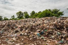 Waste from Urban Communities of Underdeveloped Countries. Left behind by public forests, Thailand, Southeast Asia Stock Photography
