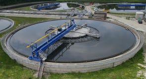 waste vatten för växtbehandling Arkivfoto