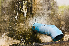 Waste water pipe Royalty Free Stock Photos