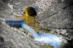 Waste water pipe Stock Photo