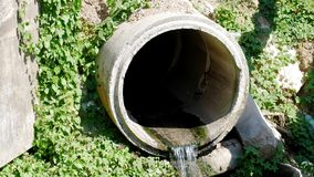 Waste water pipe royalty free stock images