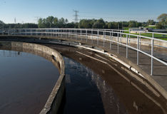 Waste water plant Royalty Free Stock Photo