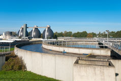 Waste water plant Stock Photography