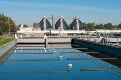 Waste water plant Royalty Free Stock Photography