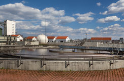 Waste water plant Stock Images