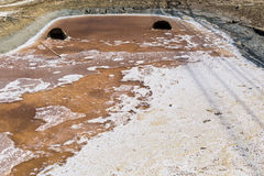 Waste water at salt farm. Waste water in waterway at salt farm Stock Photography