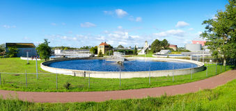 Waste water treatment bassin Stock Photography