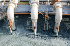 Waste water treatment with biological mud Stock Photos