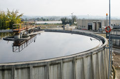 Waste water treatment with biological mud Royalty Free Stock Photo