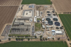 Waste Water Treatment Plant Royalty Free Stock Image