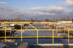 Waste water treatment plant Royalty Free Stock Photo