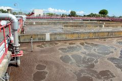 Waste-water treatment plant Royalty Free Stock Image