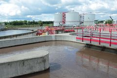 Waste-water treatment plant Royalty Free Stock Photos