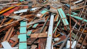 Waste wood pile. Waste wood pile,old wood pile Stock Photos