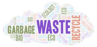Waste word cloud stock photography