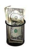wastebasket τραπεζογραμματίων Στοκ εικόνες με δικαίωμα ελεύθερης χρήσης