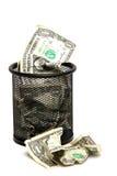 wastebasket τραπεζογραμματίων Στοκ Εικόνα
