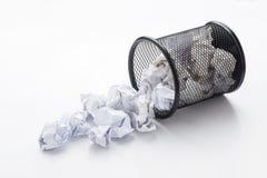 wastepaper basket tumbled  Stock Image