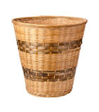 Wastebasket Isolated with clipping path Royalty Free Stock Photo