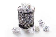 overflowed wastepaper basket Royalty Free Stock Image