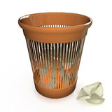 Wastepaper basket Royalty Free Stock Photos