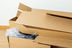 Wasted carton box Royalty Free Stock Image