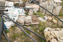 Wasted construction materials Stock Images