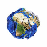Wasted earth. Concept of pullution and robing earth from its resources Royalty Free Stock Images