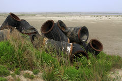 Wasted objects, blowing sand pipe Stock Image