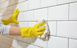 Wastegels na keukenwederopbouw Stock Afbeelding