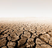 Wasteland. Land with dry cracked ground stock image