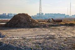 Wasteland in Ningbo China. Wasteland on the city outskirts of Ningbo China Stock Images