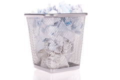 Wastepaper basket Royalty Free Stock Photography