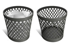 Wastepaper Basket. Wire trash can / waste bin / recycle bin Stock Photography