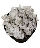 Wastepaper basket full of crumpled paper Royalty Free Stock Photo