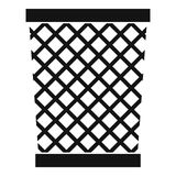 Wastepaper basket icon, simple style Stock Image