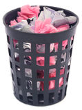 Wastepaper basket Royalty Free Stock Images