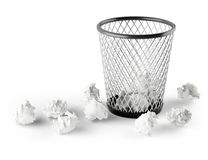 Wastepaper basket Royalty Free Stock Photo
