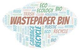 Wastepaper Bin word cloud stock photography